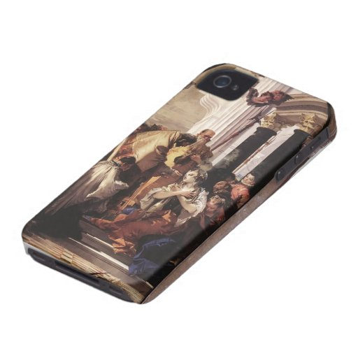 Giovanni Tiepolo- Last Communion of St Lucy iPhone 4 Case-Mate Case
