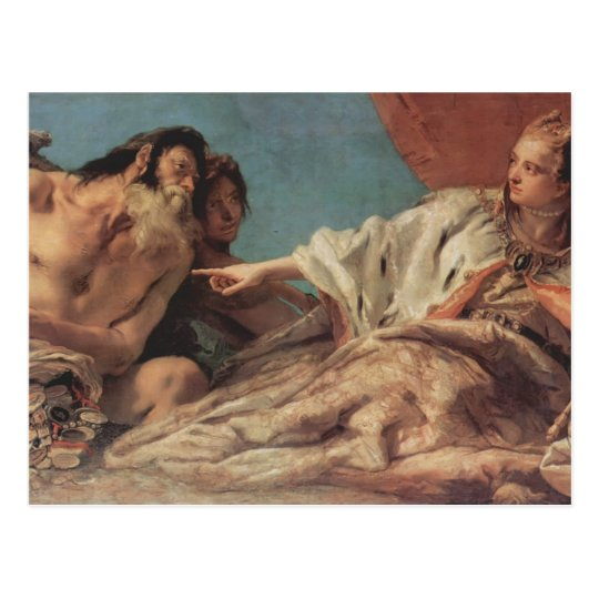Giovanni Tiepolo- Neptune Offering Gifts to Venice Postcard