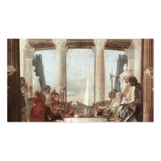 Giovanni Tiepolo: The Banquet of Cleopatra Pack Of Standard Business Cards