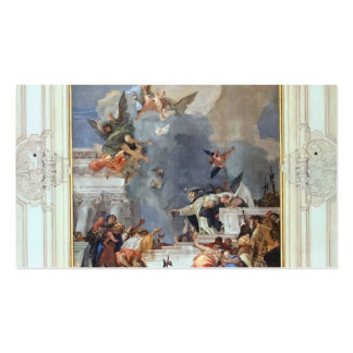 Giovanni Tiepolo: The Institution of the Rosary Pack Of Standard Business Cards