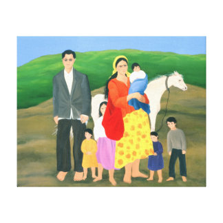 Gipsy Family 1986 Canvas Print