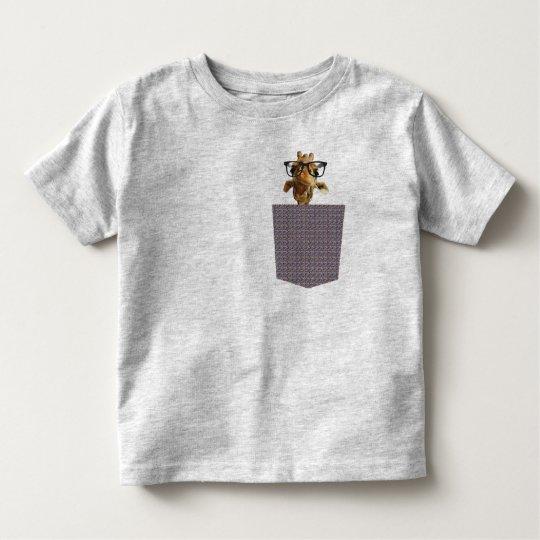 giraff peek-a-boo pocket tee nature T-shirt design