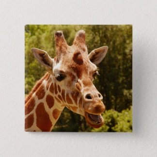 Giraffe 15 Cm Square Badge