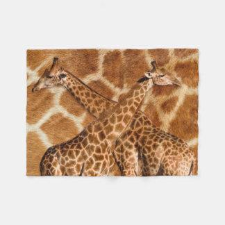 Giraffe 1A Wooden Photo Panel Fleece Blanket