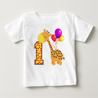 Giraffe 1st Birthday Baby T-Shirt