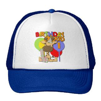 Giraffe 1st Birthday Trucker Hats