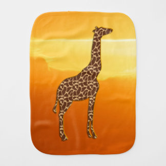 Giraffe 2 burp cloth