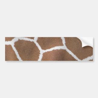 giraffe-401032 ANIMAL PRINT giraffe animal skin na Bumper Sticker