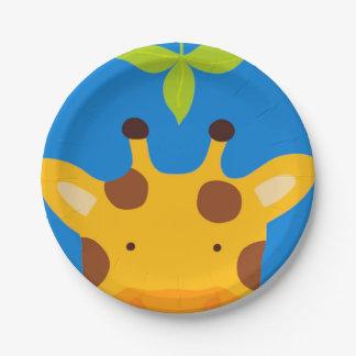 Giraffe 7 Inch Paper Plate