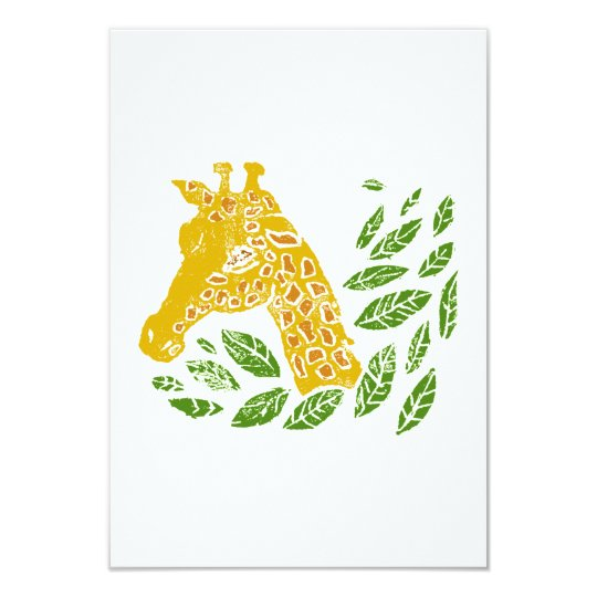 Giraffe 9 Cm X 13 Cm Invitation Card