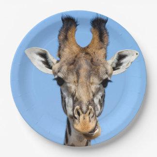 Giraffe 9 Inch Paper Plate