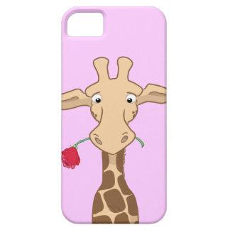 Giraffe and a Rose iPhone 5 Case