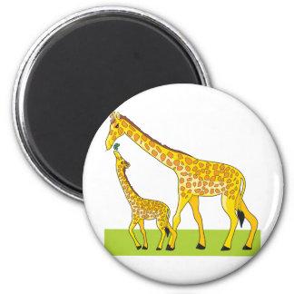Giraffe and Baby Magnet