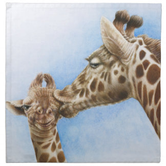 Giraffe and Calf American MoJo Napkin