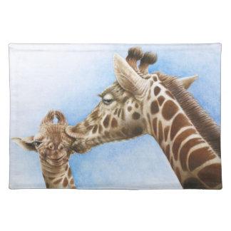 Giraffe and Calf American MoJo Placemat