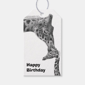Giraffe and Calf Gift Tags
