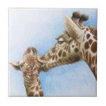 Giraffe and Calf Tile