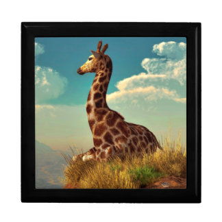 Giraffe and Distant Mountain Gift Box