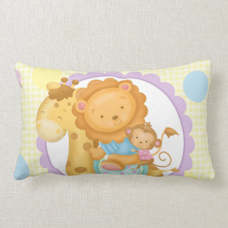 Giraffe and Friends Lumbar Pillow