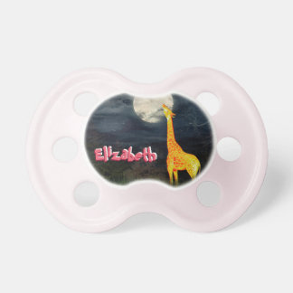 Giraffe and Moon Custom Baby  BooginHead Pacifier