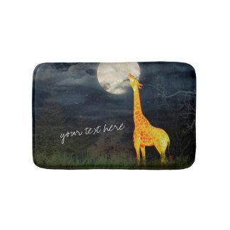 Giraffe and Moon | Custom Bath Mat Bath Mats