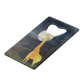 Giraffe and Moon | Custom Bottle Opener