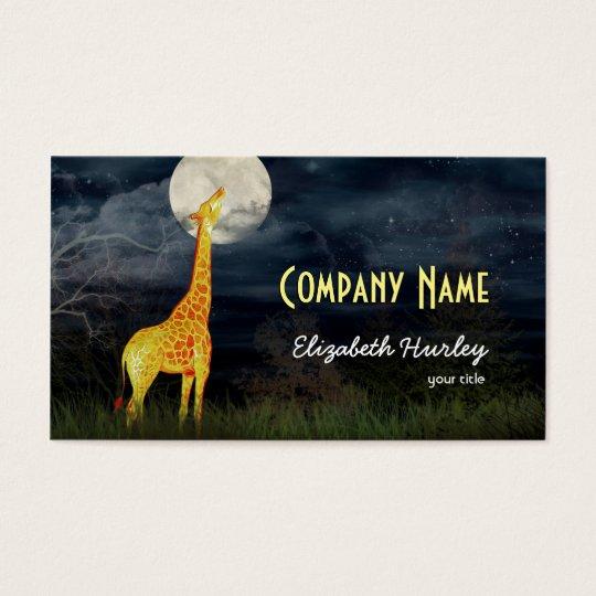 Giraffe and Moon | Custom Business Cards