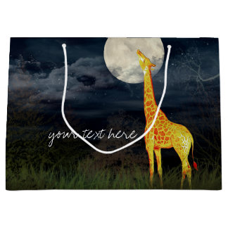 Giraffe and Moon | Custom Gift Bag