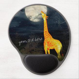 Giraffe and Moon   Custom Mousepad Gel Mouse Mat