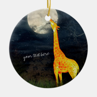 Giraffe and Moon | Custom Ornament Decoration