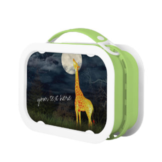 Giraffe and Moon Custom Personalized Yubo Lunchbox
