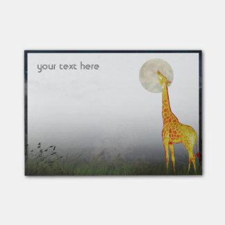 Giraffe and Moon | Custom Post-it® Notes