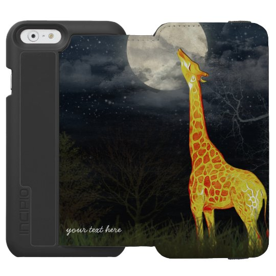 Giraffe and Moon Incipio Watson iPhone Wallet Case