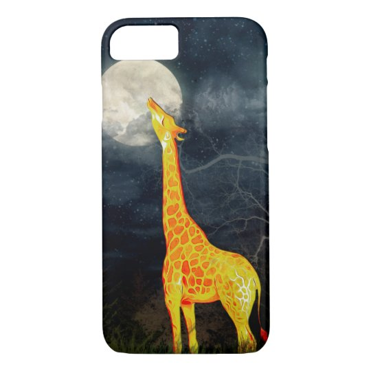 Giraffe and Moon iPhone Samsung Galaxy S6/S5 Cases