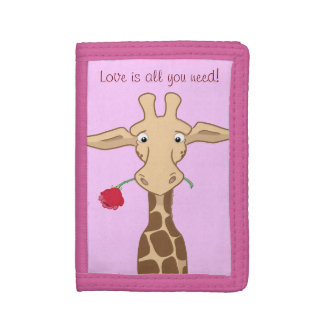 Giraffe and Rose Wallet