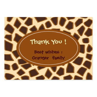 Giraffe animal brown pattern pack of chubby business cards