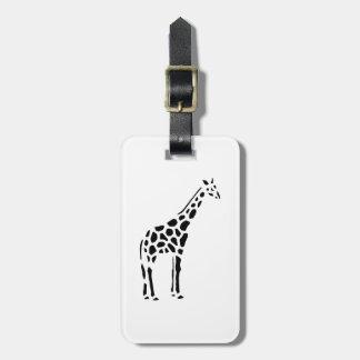 Giraffe animal cartoon luggage tag