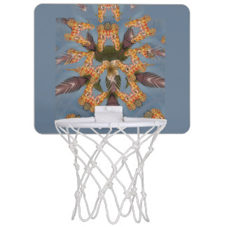 Giraffe animal print design mini basketball hoop