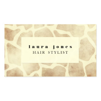 Giraffe Animal Print Pattern Hair Stylist Template Pack Of Standard Business Cards