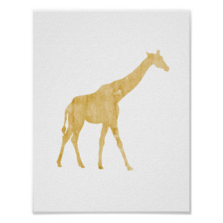 Giraffe, Animal, Safari style, Boy's room poster