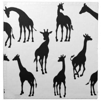 Giraffe Animal Silhouettes Napkin