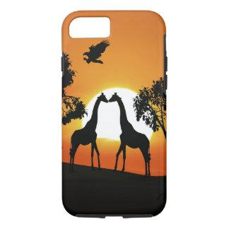 Giraffe at sunset iPhone 8/7 case