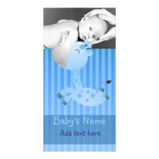Giraffe Baby Announcement Photo Cards