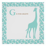Giraffe Baby Bedroom Wall Poster