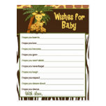 Giraffe Baby & Mummy Wishes for Baby Advice Cards Postcard