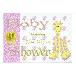 Giraffe Baby Shower 13 Cm X 18 Cm Invitation Card