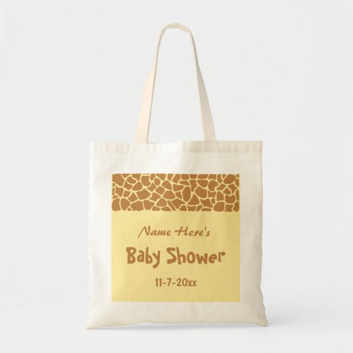 Giraffe Baby Shower Canvas Bags