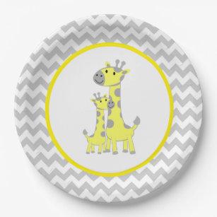 Giraffe Baby Shower Chevron Paper Plate  sc 1 st  Zazzle & Giraffe Plates | Zazzle.co.uk