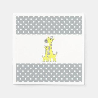 Giraffe Baby Shower Disposable Napkin