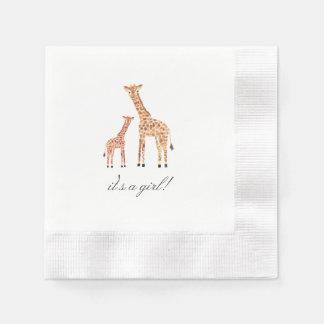 Giraffe Baby Shower Disposable Napkins